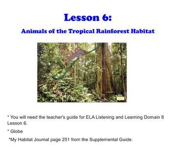 Engage NY First Grade ELA Domain 8 Animals and Habitats Lesson 6