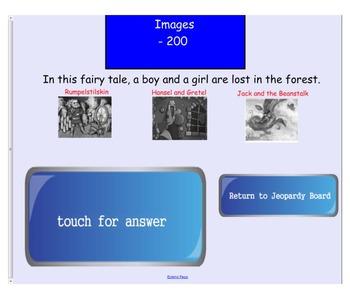 Engage NY First Grade ELA Domain 9 Fairy Tales Jeopary Review Game