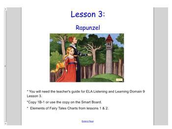Engage NY First Grade ELA Domain 9 Fairy Tales Lessons 1-5