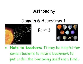 Engage NY First Grade ELA Domain Assessment 6 Astronomy