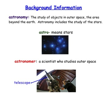 Engage NY First Grade ELA Listening and Learning Domain 6 Astronomy Lesson 8