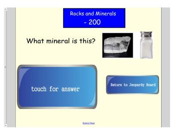 First Grade Engage NY ELA Domain 7 History of the Earth Jeopardy Game SMARTboard