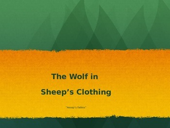 Engage NY: First Grade: Fables & stories: The Wolf in Sheep's Clothing
