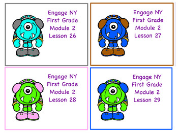 Engage NY First Grade Module 2 Topic D Lessons 26-29
