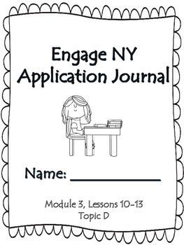 Engage NY First Grade Module 3 Lesson 10-13 Application Problem Journal
