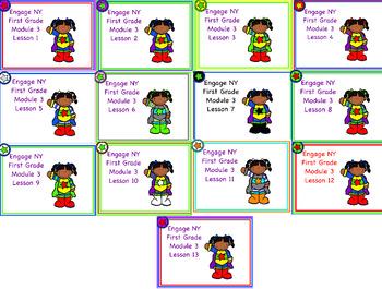 Engage NY First Grade Module 3 Lessons 1-13 and Assessment Flip Chart