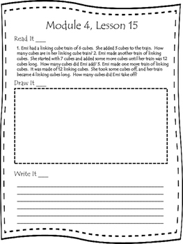 Engage NY First Grade Module 4 Lesson 13-29 Application Problem Journal