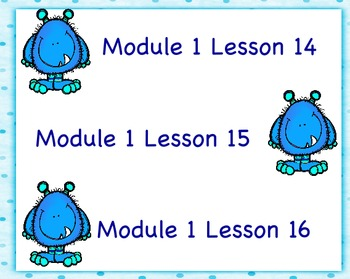Engage NY First Grade Module 1 Topic D (Lessons 14-16)