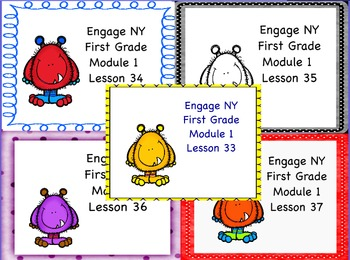 Engage NY First Grade Module 1 Topic I (Lessons 33-37)