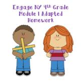 Engage NY Fourth Grade Module 1 Adapted Homework