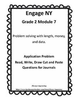 Engage NY G2 M8 Application Problem RDW Journal Questions