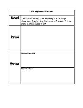Engage NY3rd Grade Unit 1 Application Problems in RDW Format