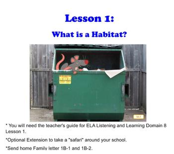 Engage NY Grade 1 ELA Listening & Learning Domain 8 Lesson 1 Animals & Habitats