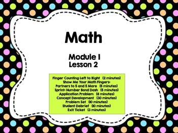 Engage NY Grade 1 Math: Module 1 Lesson 2
