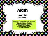 Engage NY Grade 1 Math: Module 1 Lesson 4
