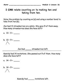 Engage NY Grade 1 Math Module 2 Lessons 16-20