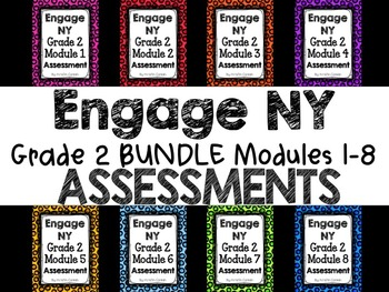 Engage NY Grade 2 Module 1-8 END OF MODULE ASSESSMENT BUNDLE