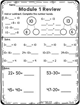 Engage NY Grade 2 Module 1 Supplemental Printables