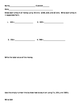 Engage NY Grade 2 Module 3 Lesson 8-9 Assessment