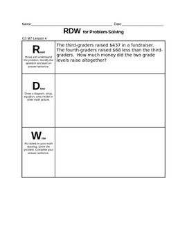 Engage NY Grade 3 Math Application Problems for Module 7
