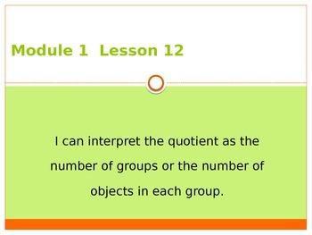 Engage New York / Eureka Grade 3 Module 1 Lesson 12 PowerPoint