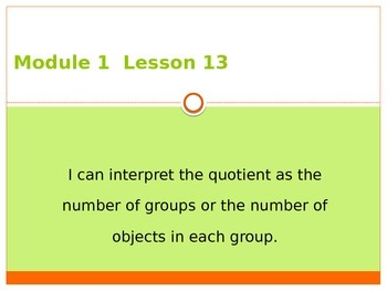 Engage New York / Eureka Grade 3 Module 1 Lesson 13 PowerPoint