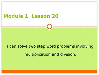 Engage New York / Eureka Grade 3 Module 1 Lesson 20 PowerPoint