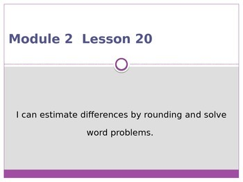 Engage New York / Eureka Grade 3 Module 2 Lesson 20 PowerPoint