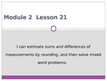 Engage New York / Eureka Grade 3 Module 2 Lesson 21 PowerPoint