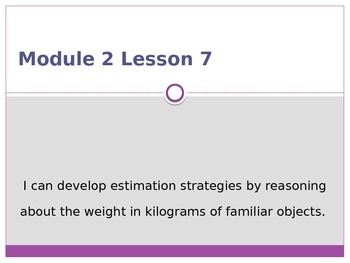 Engage New York / Eureka Grade 3 Module 2 Lesson 7 PowerPoint