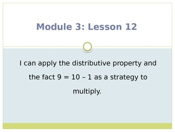 Engage New York / Eureka Grade 3 Module 3 Lesson 12 PowerPoint