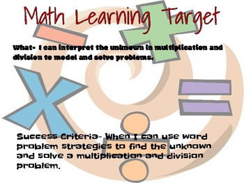 Learning Target-Engage NY, Grade 3, Module 3, Lesson 15 Learning Target