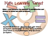 Learning Target-Engage NY, Grade 3, Module 3, Lesson 15 Le