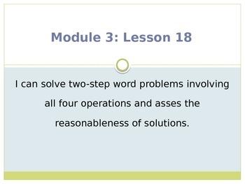 Engage New York / Eureka Grade 3 Module 3 Lesson 18 PowerPoint