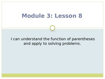Engage New York / Eureka Grade 3 Module 3 Lesson 8 PowerPoint