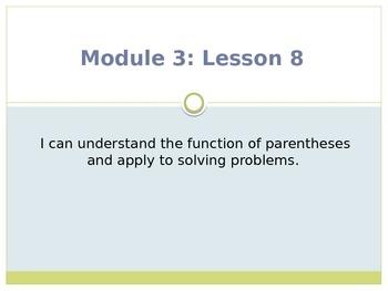 Engage New York / Eureka Grade 3 Module 3 Lesson 8 PowerPoint
