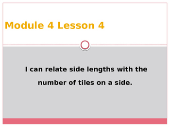 Engage New York / Eureka Grade 3 Module 4 Lesson 4 PowerPoint