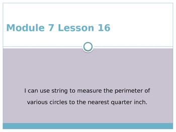 Engage New York / Eureka Grade 3 Module 7 Lesson 16 Powerpoint