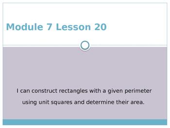Engage New York / Eureka Grade 3 Module 7 Lesson 20 Powerpoint