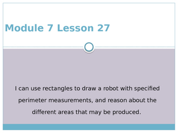 Engage New York / Eureka Grade 3 Module 7 Lesson 27
