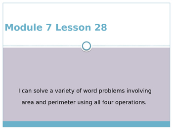 Engage New York / Eureka Grade 3 Module 7 Lesson 28