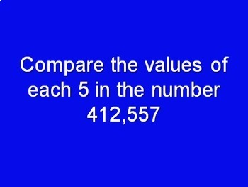 Engage NY/ Eureka Math Grade 4 Module 1 Assessment Review Jeopardy