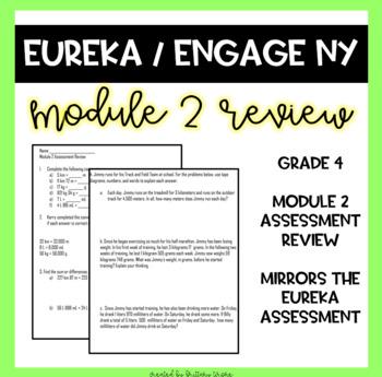 Engage NY/Eureka Math Grade 4 Module 2 Assessment Review Sheet