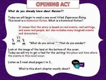 Engage NY Grade 5 ELA Module 1 Unit 2 Esperanza Rising  (Lessons 1-18)