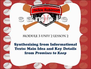 Engage NY Grade 5 ELA Module 3 Unit 2 Promises to Keep (Jackie Robinson)