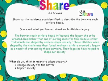 Engage NY Grade 5 ELA Module 3A Unit 3 Lessons 1-15 Research an Athlete's Legacy