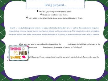 Engage NY Grade 5 ELA Module 4 Unit 2 Lesson 2 FREE!! Natural Disasters