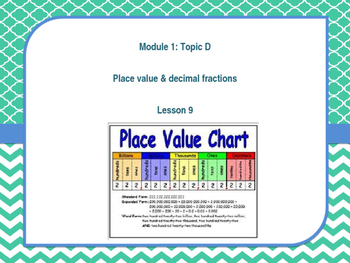 Engage NY Grade 5 Math Module 1 Lesson 9 PLACE VALUE