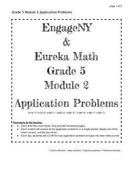 EngageNY Grade 5 Module 2 Application Problems