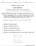 Grade 6 | Rational Numbers Math Assessment | Test Prep | Engage NY Module 3 EDIT